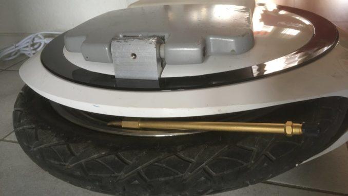 gyroroue Ninebot One E+ valve pneu