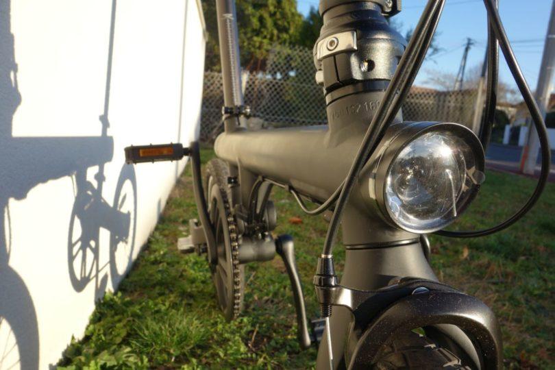 vélo pliant xiaomi ef1 de face