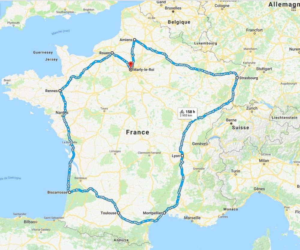 tour de france monsieur flex itinéraire