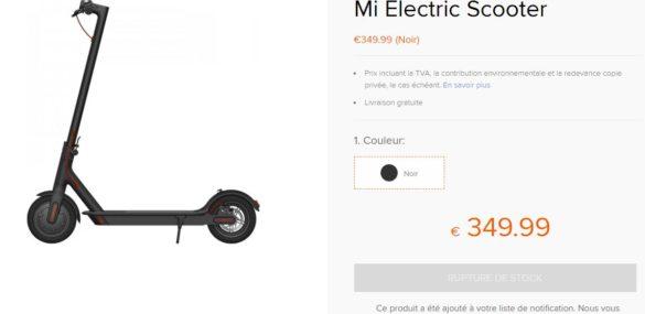 La M365 vendue 350 euros par Xiaomi France