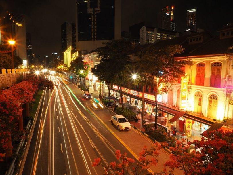 visuel singapour rue time lapse