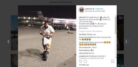 Lyft se paie DJ Khaled pour ses trottinettes en libre service