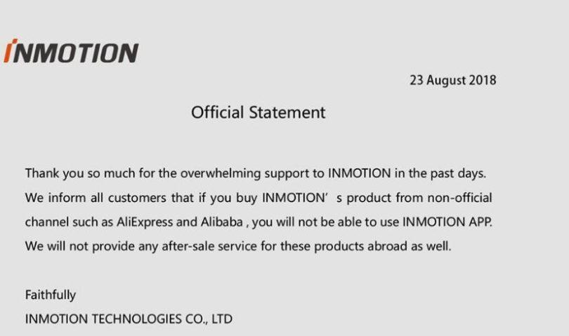 statement inmotion sur l'import depuis la chine