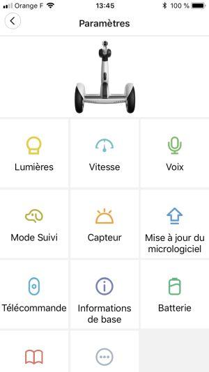 Application ninebot mini plus