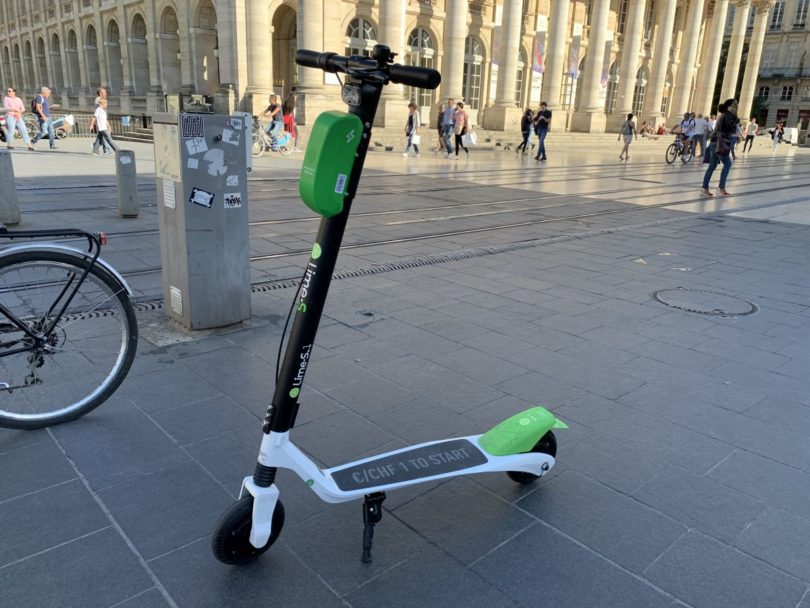 trottinette Lime à Bordeaux