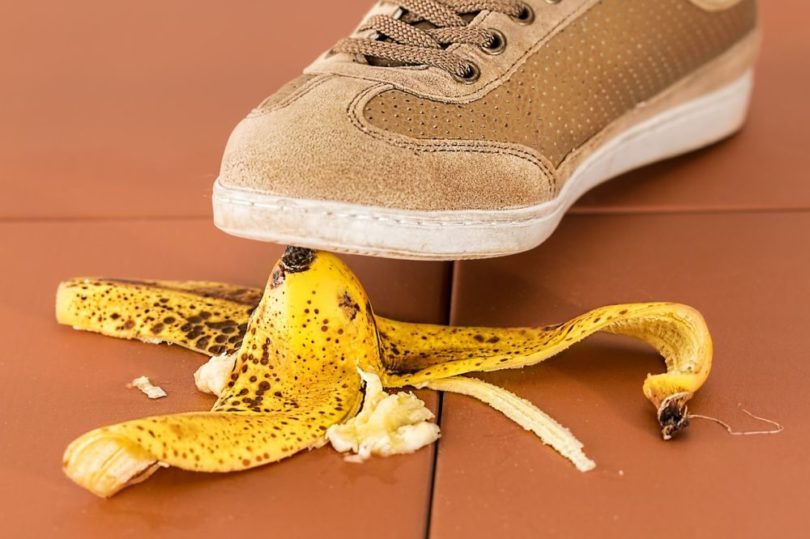 pied peau de banane