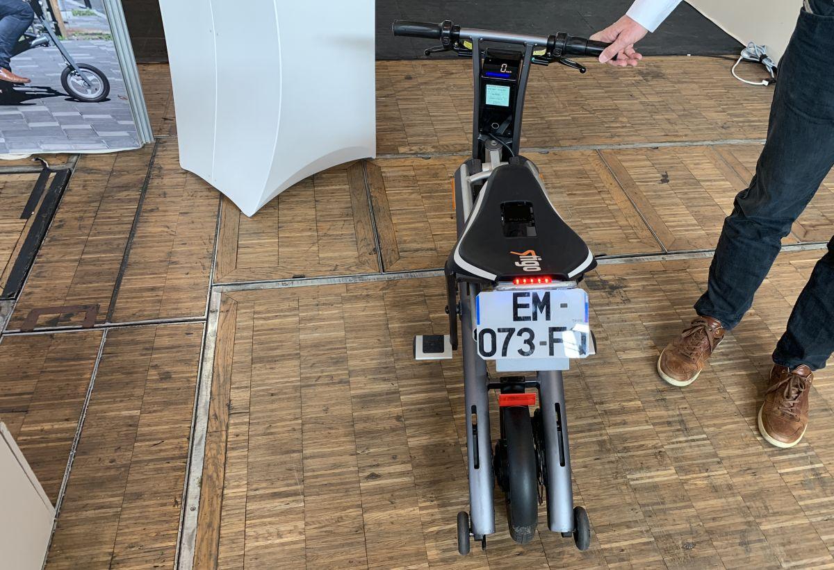 scooter électrique Stigo plaque d'immatriculation
