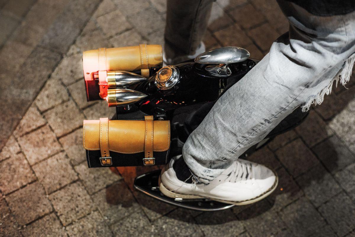 Roue électrique custom Escis by Kos vue de dessus