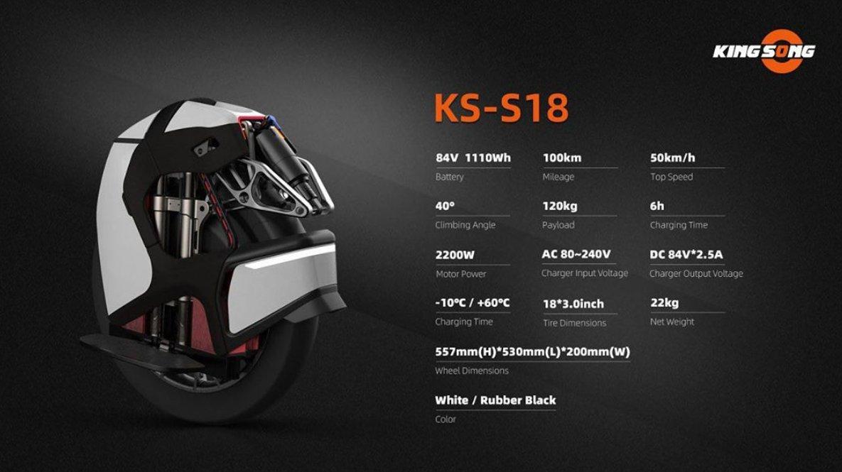 caractéristiques S18 KingSong