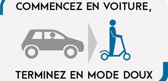 Lyon teste une offre couplée parking et location de trottinette